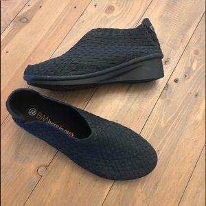 Bernie Meg Black Smooth Cha Cha Shoes